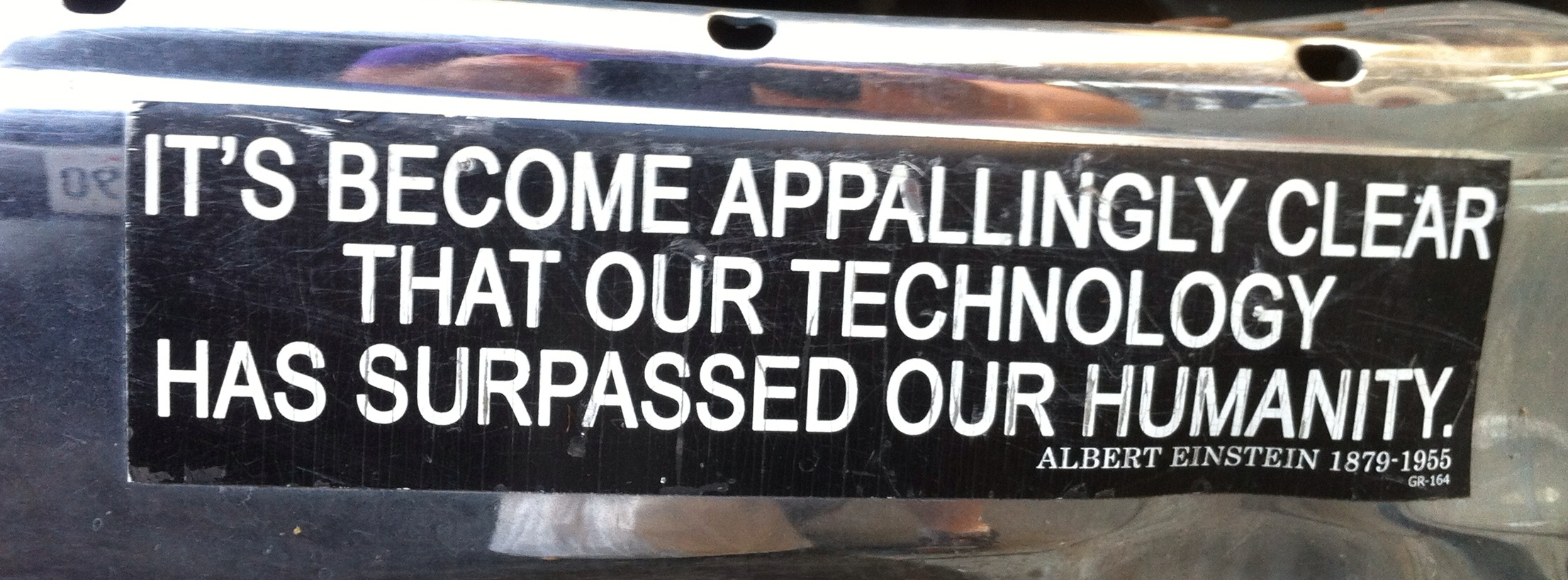 Bumper Sticker Einstein quote on Technology
