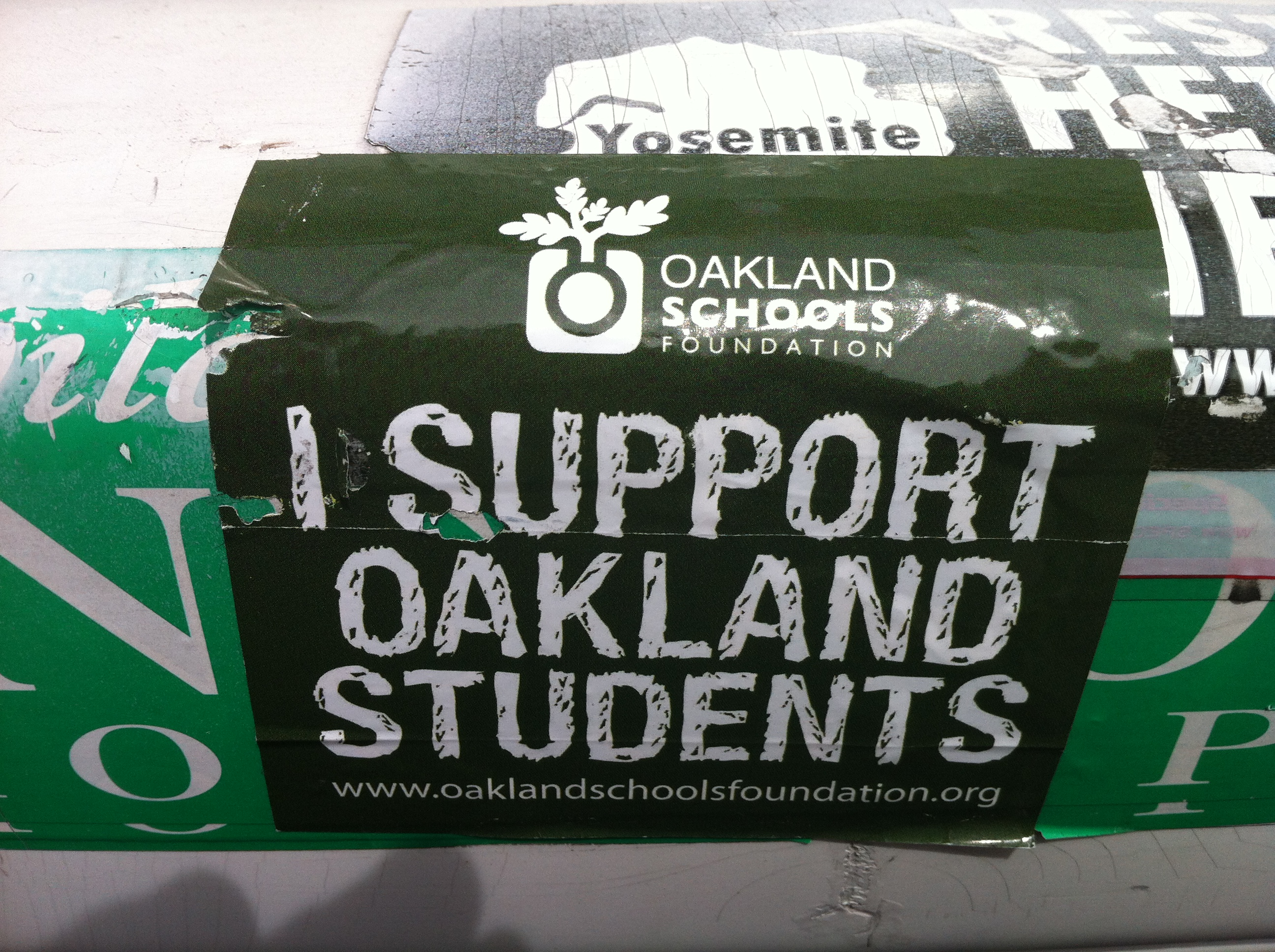 Bumper Sticker Support Oakland Students