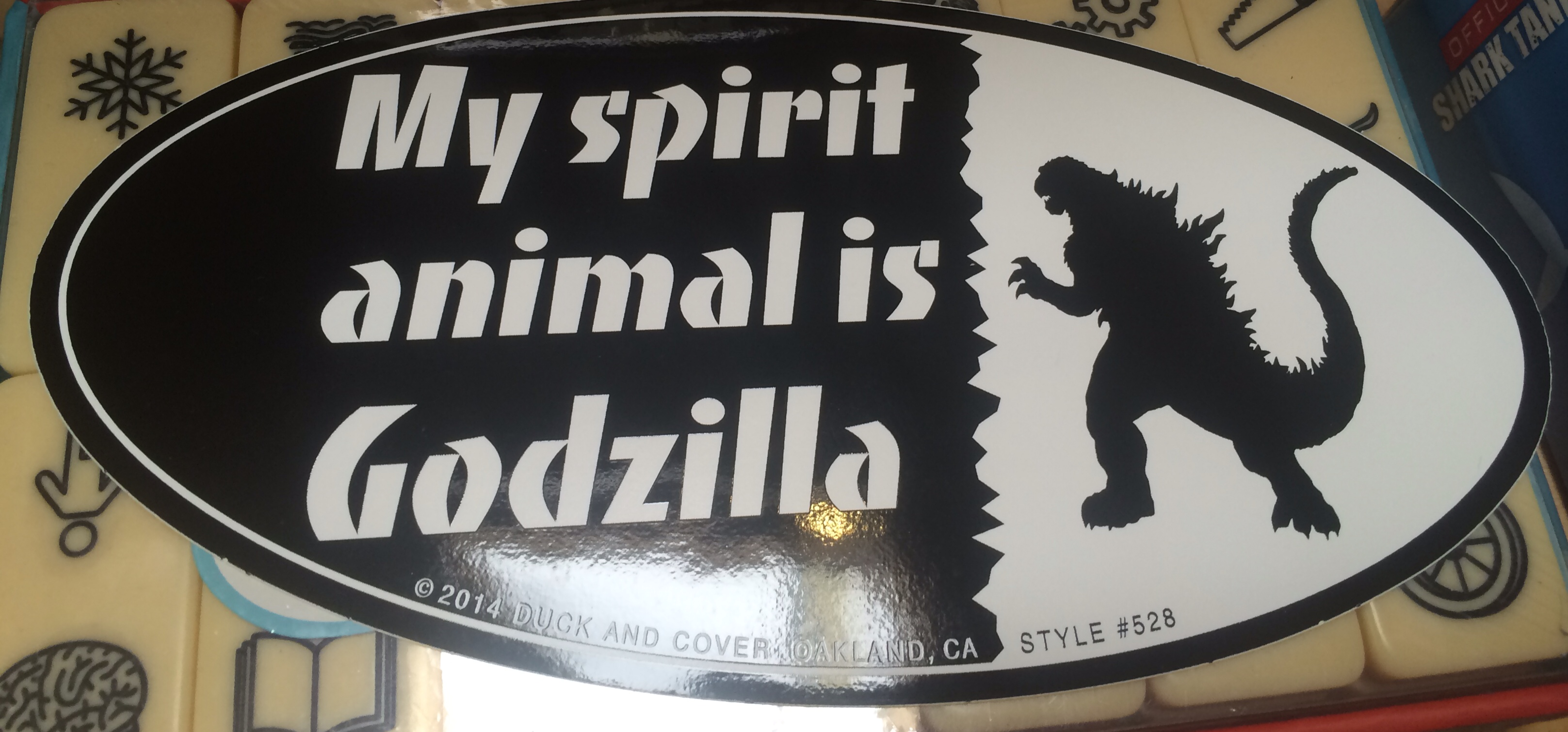 Bumper Sticker Animal Spirit Godzilla