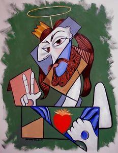 Cubit portrait of Jesus