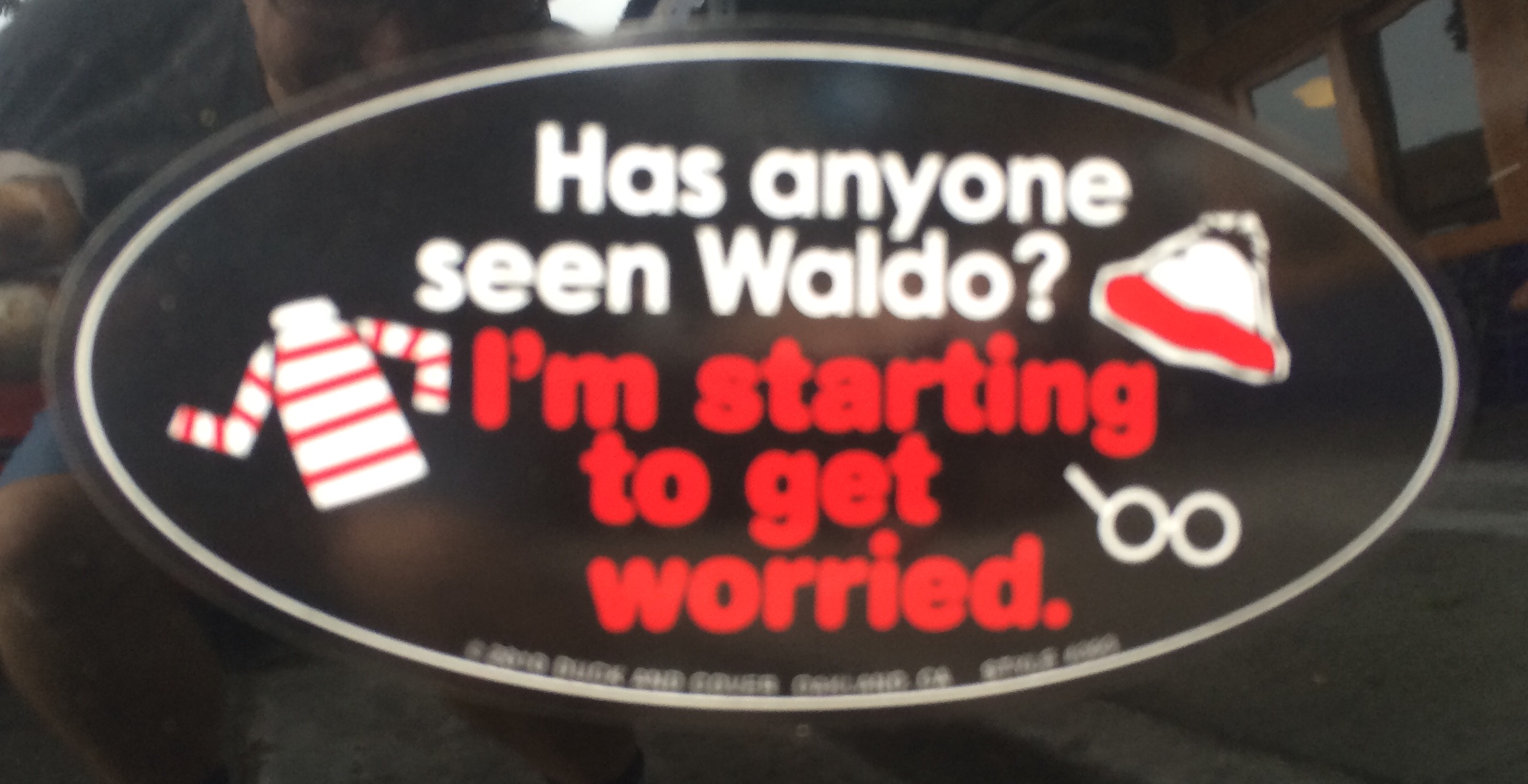 Bumper Sticker Waldo