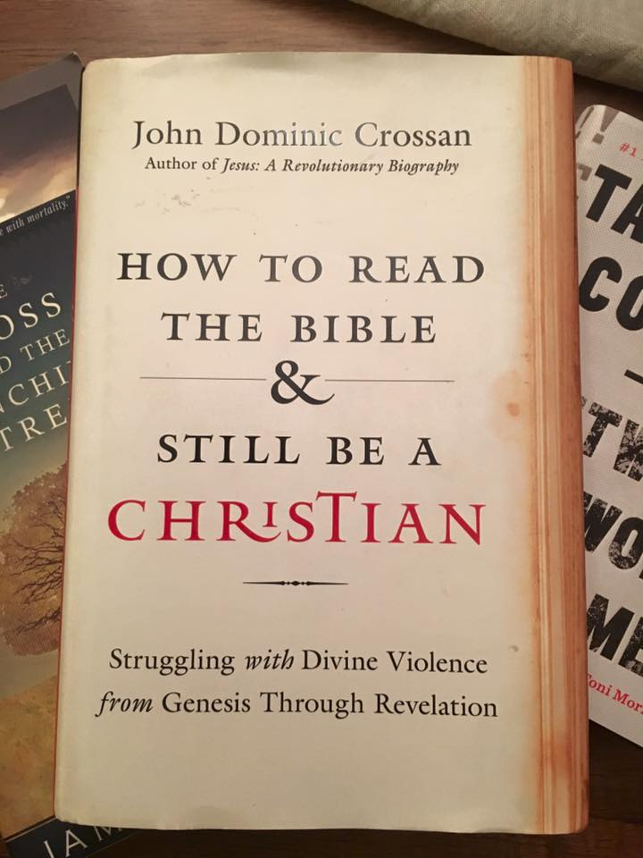 "Picture of the book ""How to Read the Bible & Still be a Christian"" laying on top of a piles of other books."