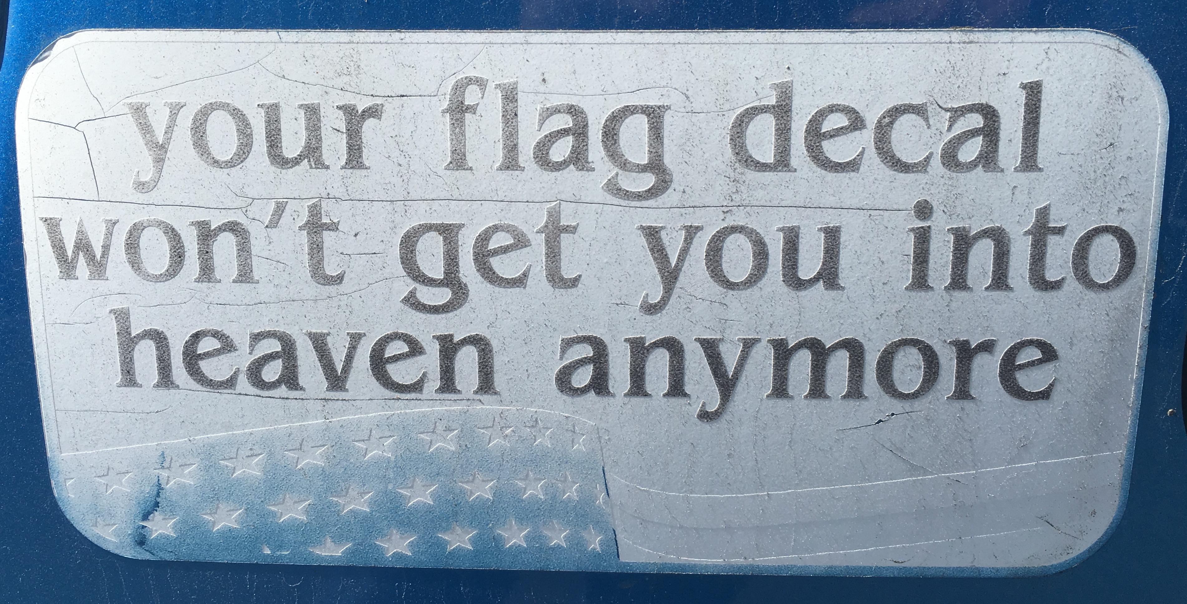 Bumper Sticker Flag Decal
