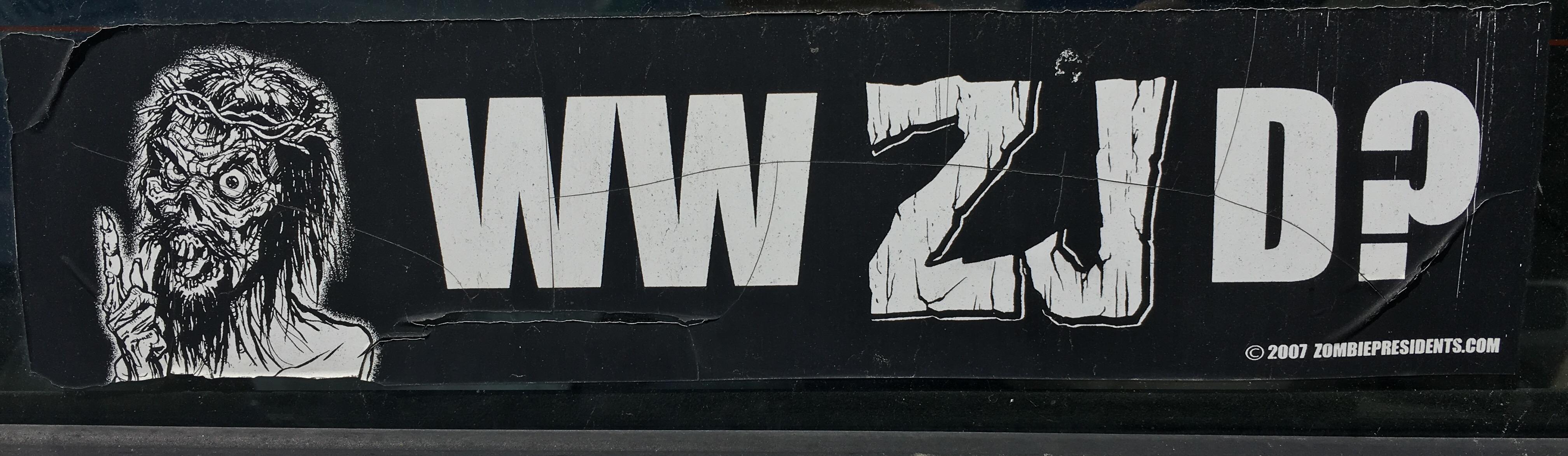 Bumper Sticker WWZJ Do?