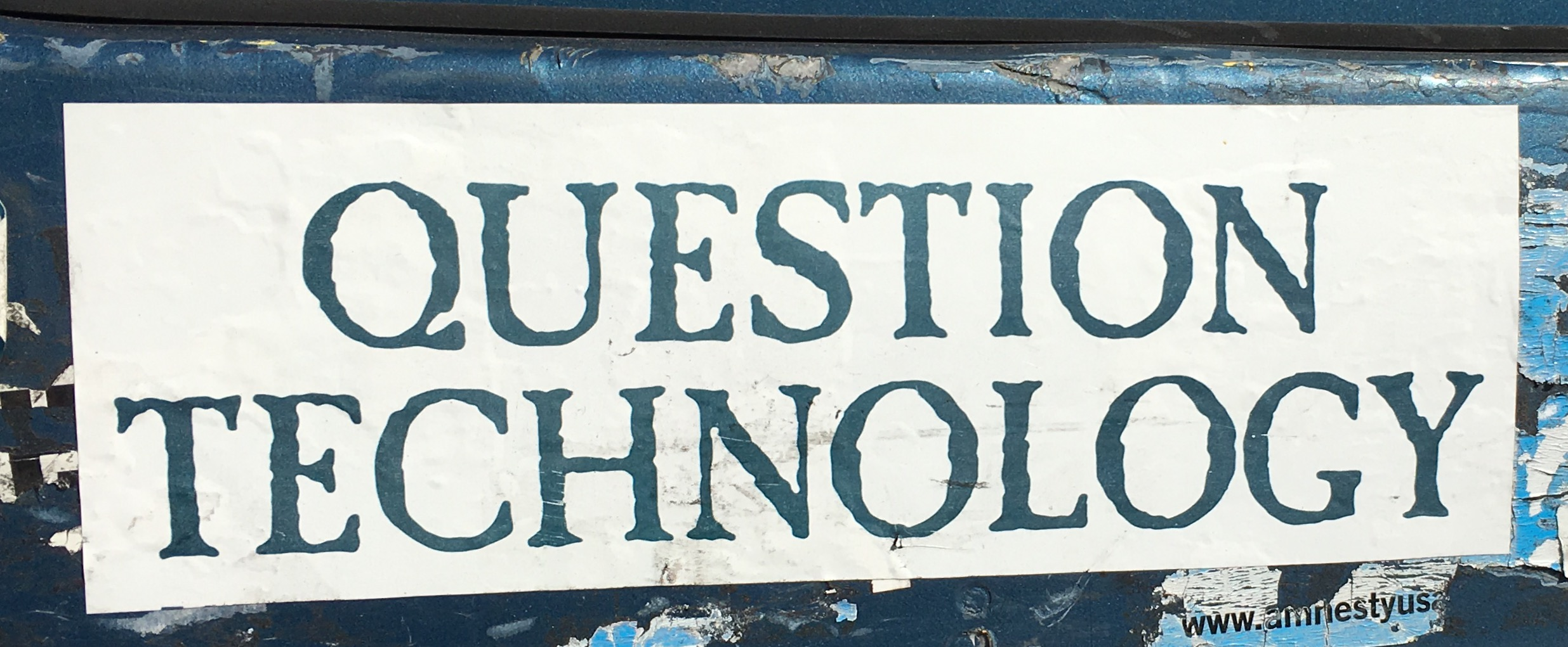 Bumper Sticker Question Technology