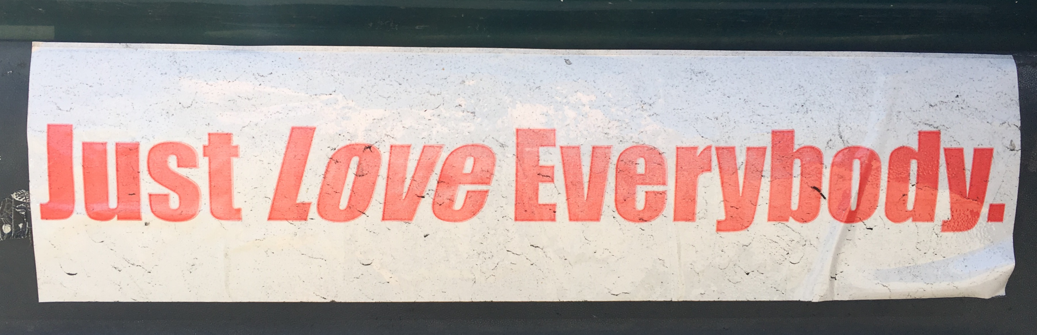 bumpersticker-just-love-everybody