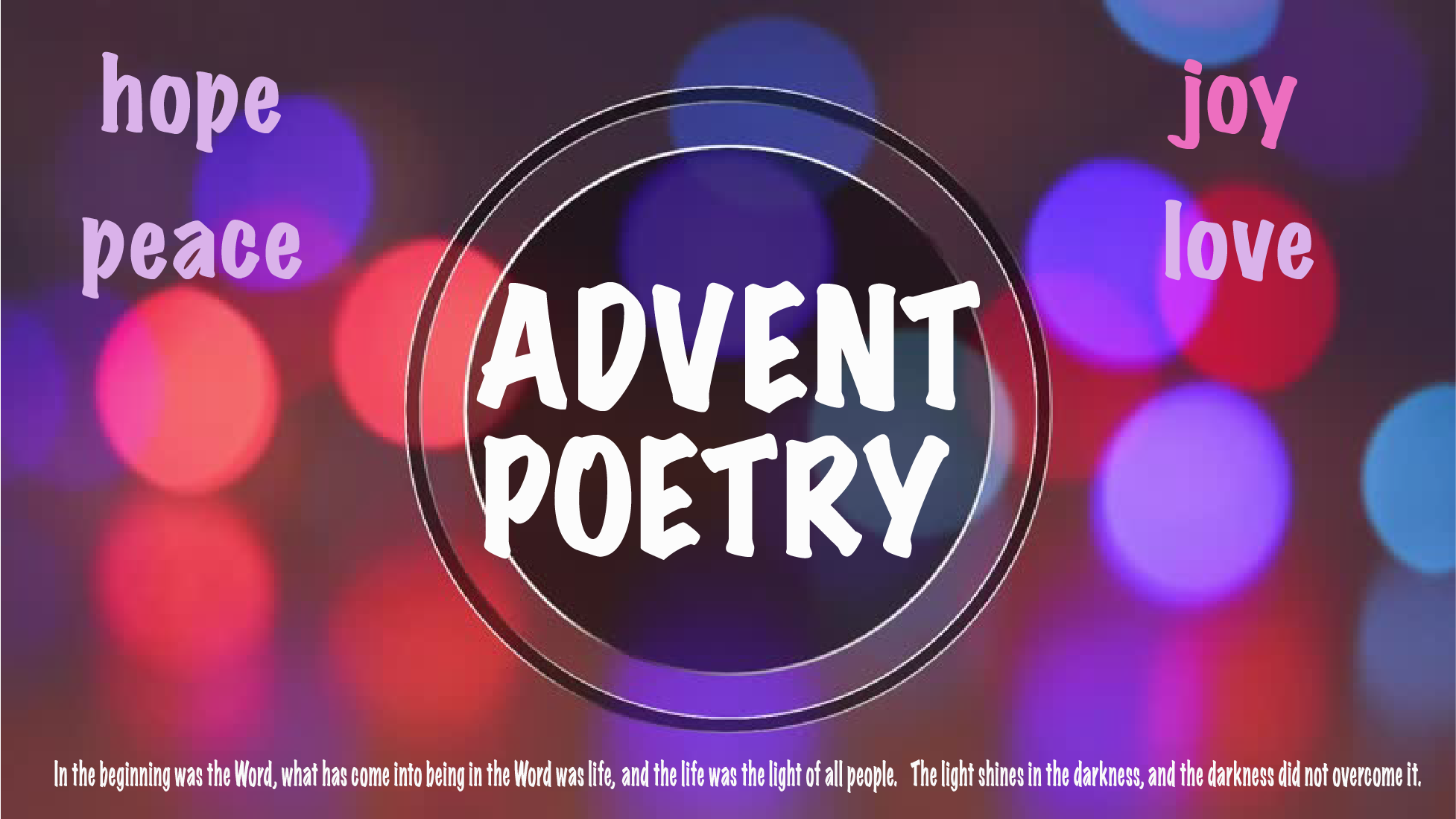 Advent Circle Poetry