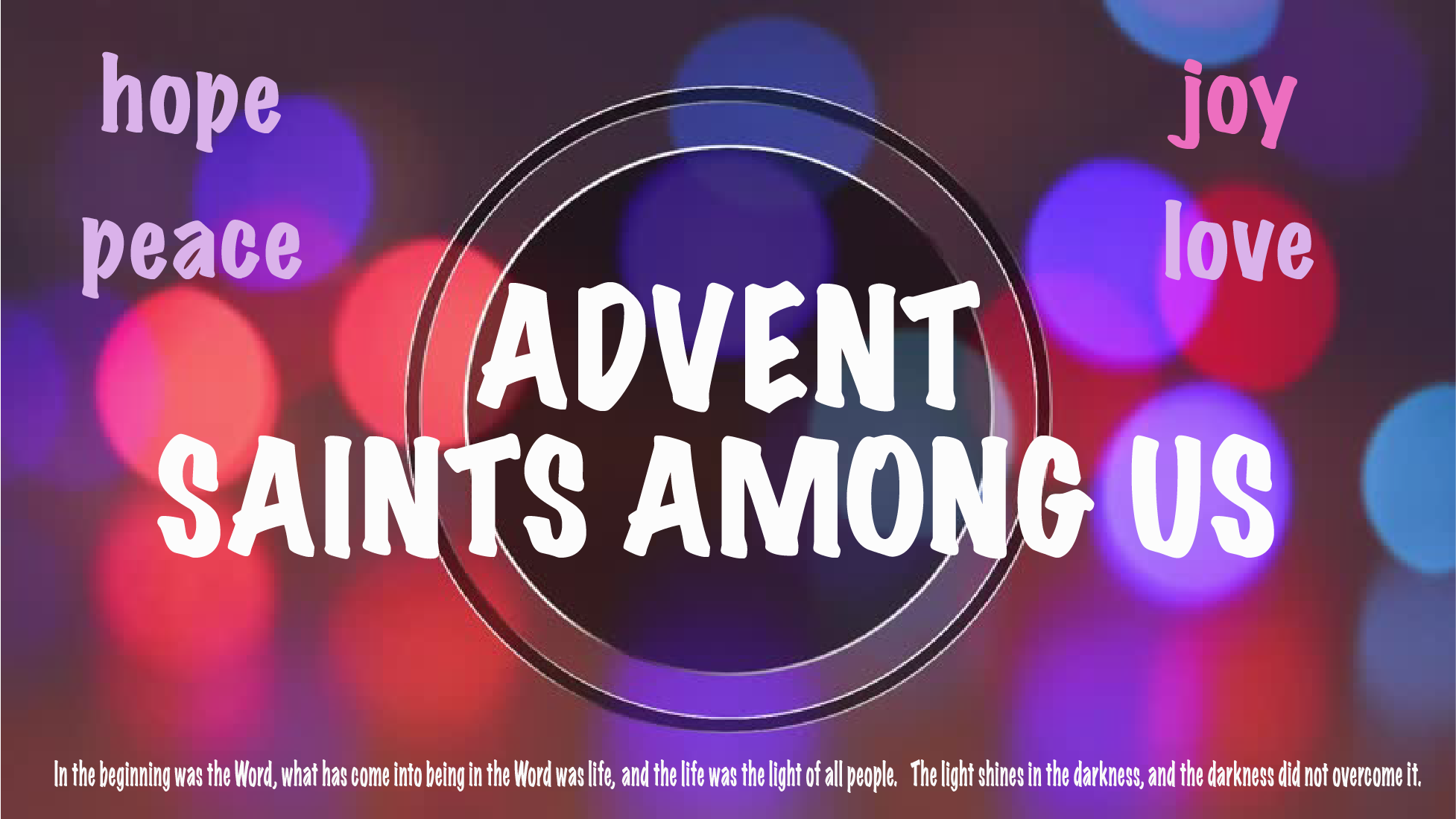 Advent Circle Saints