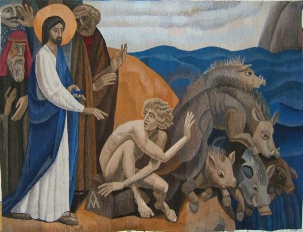 Demoniac Man & Jesus Icon